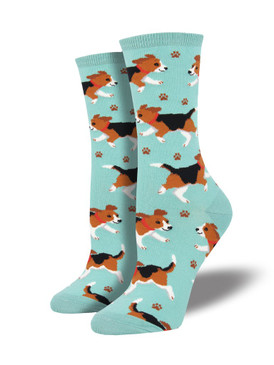 womens puppy prints socks, fits U.S. women's shoe size 5-10.5