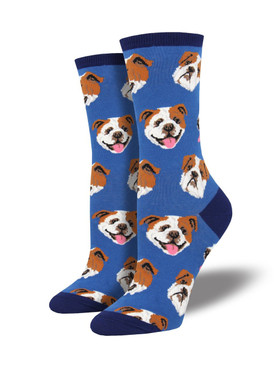 women incredibull bulldog socks, fits U.S. women's shoe size 5-10.5