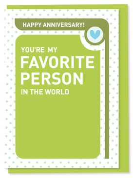 you're my favorite person anniversary  card