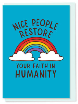 nice people restore your faith, thank you  card
