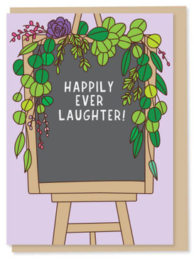 happily ever laughter wedding and congratulations card