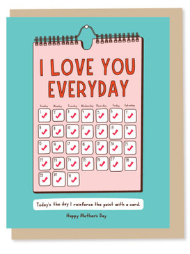 i love you everyday mother's day card
