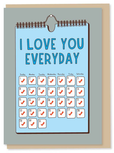 i love you everyday father's day card