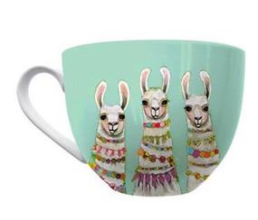 llama necklace mug
