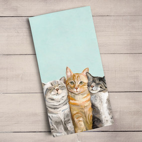 four cats tea towel 100% cotton
