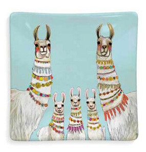 llama necklace decorative dish