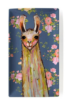 baby llama floral decorative dish