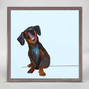 tippy the dachshund mini framed canvas
