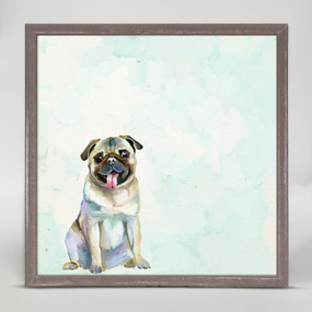 pug mini framed canvas