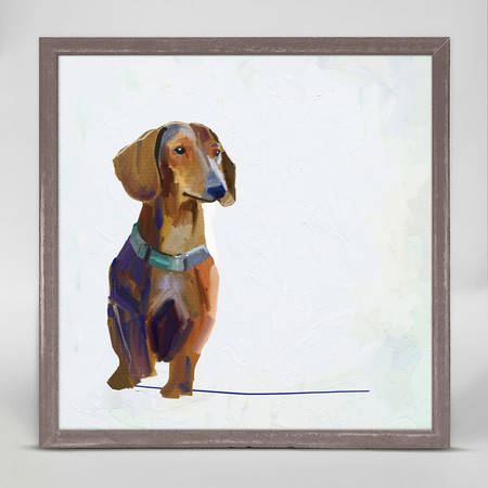 dachshund mini framed canvas