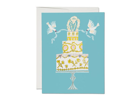 love cake wedding card