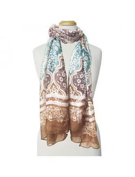 multi color foulard scarf