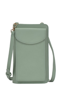 classic crossbody handbag easy storage, sage