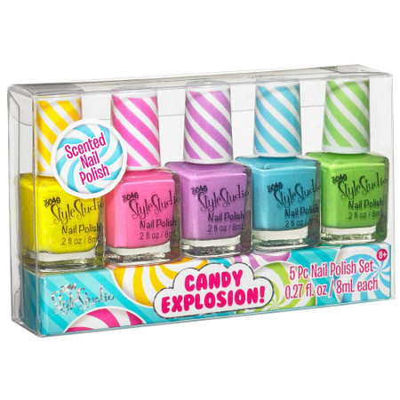 candy explosion nail polish, five 8 mL bottles