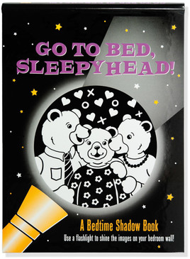 go to bed, sleepyhead! bedtime shadow book cover