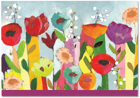 brilliant floral note cards, front view