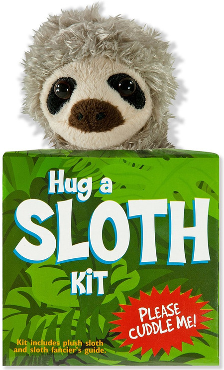 hug a sloth kit, plush sloth stuffed animal and guide
