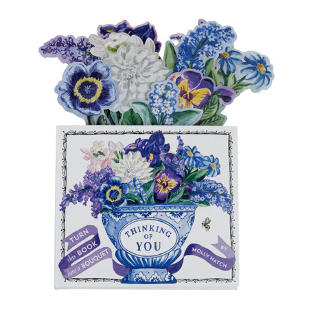 thinking of you: bouquet in a book