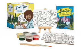 bob ross by the numbers art set, canvas, paint, book