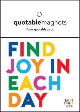 "find joy in each day magnet, 3 1/2"" square"