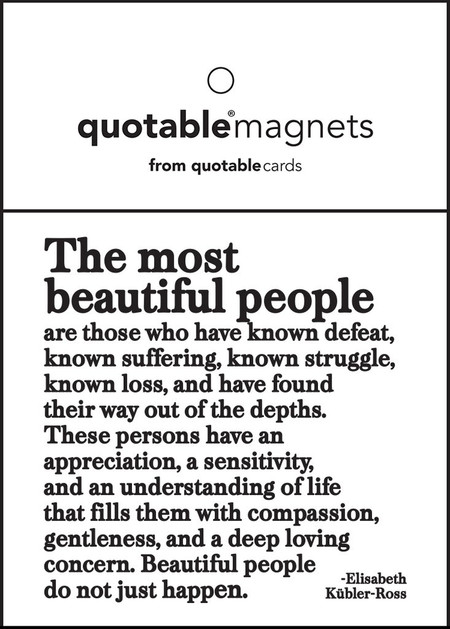"the most beautiful people magnet, 3 1/2"" square"