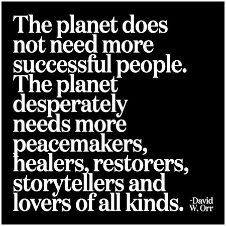 the planet does not need | inspirational