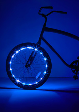20 Micro LED lights to create a ring of brilliant blue