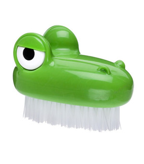 croc scrub brush vegetable scrubber