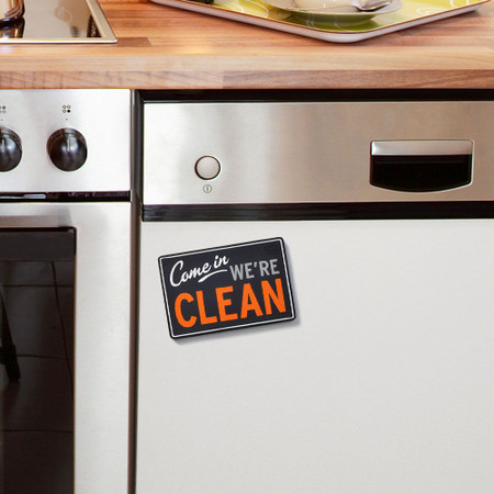 reversible dirty/clean dishwasher magnet