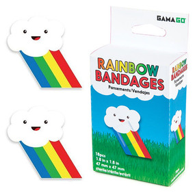 rainbow bandages,18 bandages, Latex-free ethyl acetate