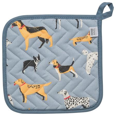 dog days potholder, 8 x 8 inches