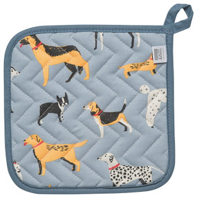 dog days potholder, 8 x 8 inches