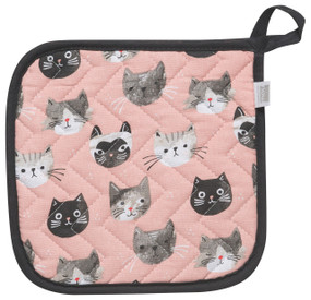 cats meow potholder, 100% cotton