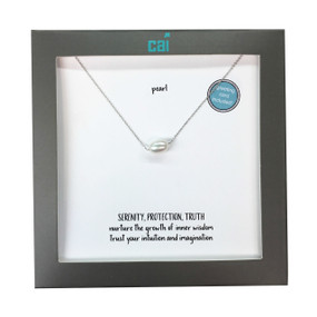 sterling silver plated necklace pearl