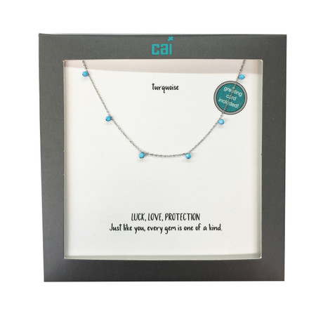 silver celestial necklace turquoise