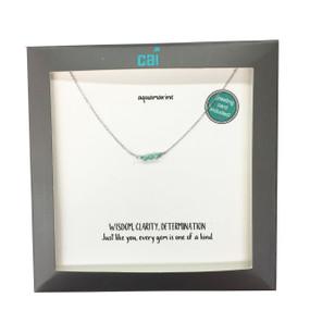 silver dainty bar necklace