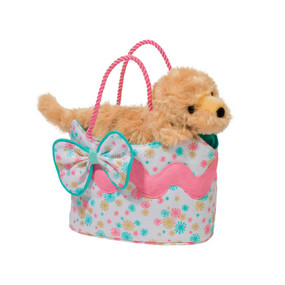 starburst glitter golden dog sassy sak and purse