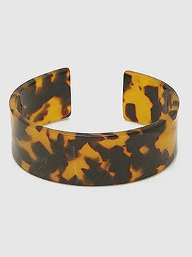 acetate open cuff bangle bracelet narrow
