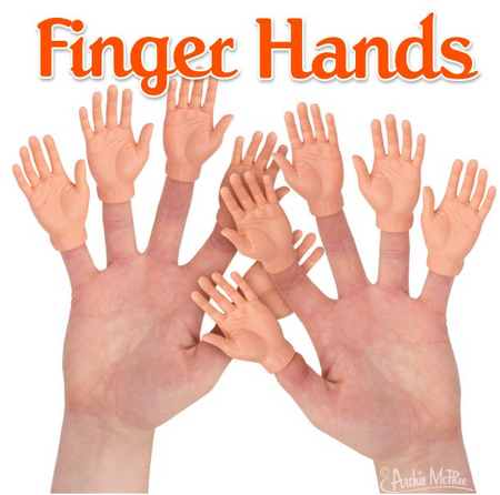 soft vinyl hands for each finger