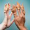 soft vinyl hands for each finger, display