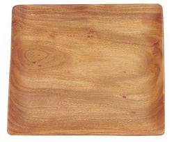 "acacia wood 12"" square plate/tray"