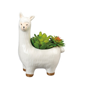 "Ceramic llama planter 5.50"" x 7.25"" x 3.25"""