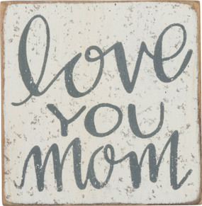 "love you mom block magnet, 2.50"" x 2.50"" x 0.50"""