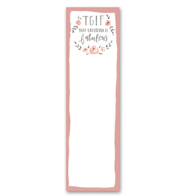 "tgif this grandma is fabulous list notepad, 2.75"" x 9.50"" x 0.25"""