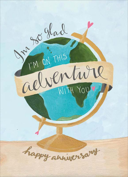adventure with you, anniversary  card