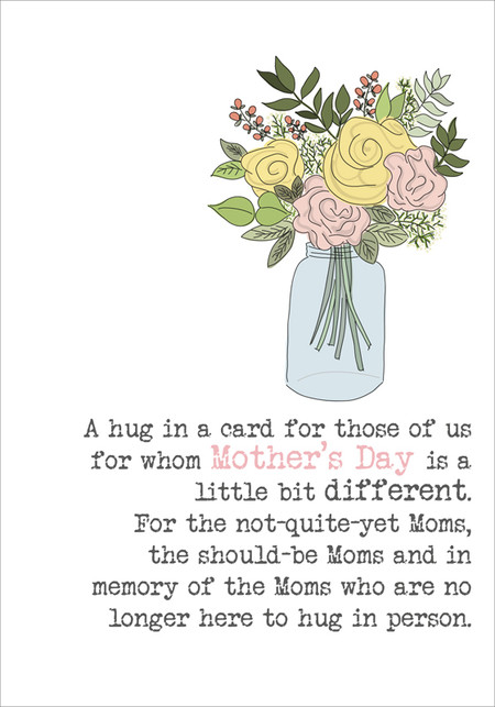 mom's hug, mother's day recognition for friends