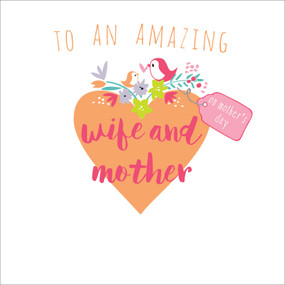 wife and mother, mother's day card