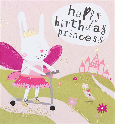 princess bunny, birthday card