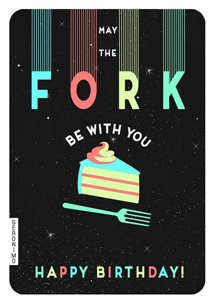 fork be with you, birthday card