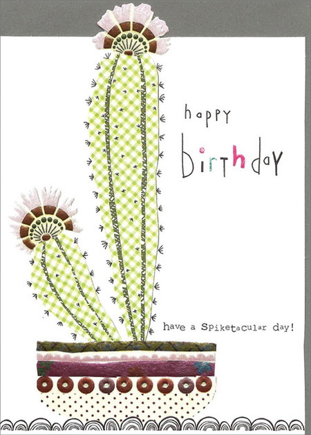 spiketacular cactus, birthday card